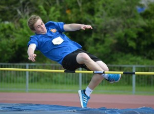 Cpl Calum Willox taking part in the High Jump.