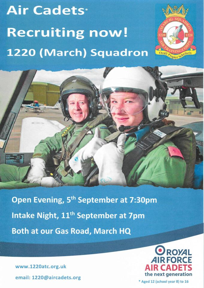1220 recruiting poster for 5th September 2018