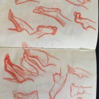 Fuß Skizze
