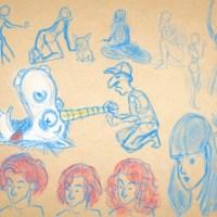 Sketch of the day: Posen und Mafiaeinhorn