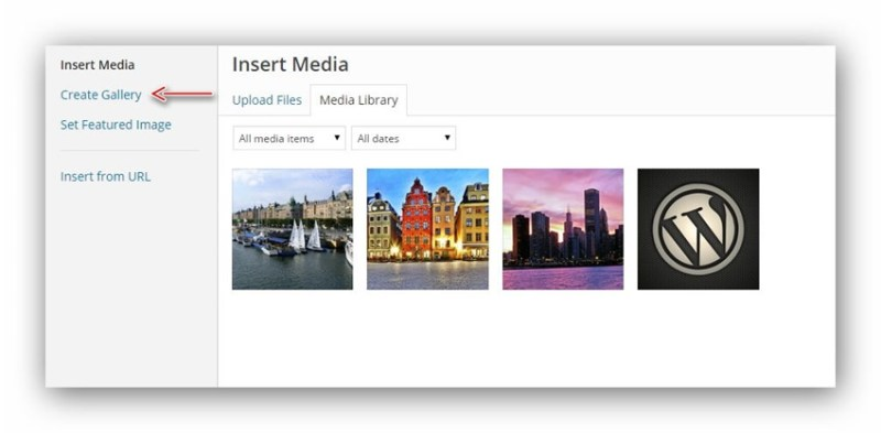 create-gallery-wordpress