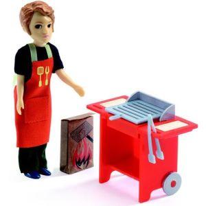 djeco poppenhuis barbecue&accessoires