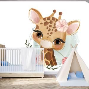 Fotobehang Baby giraffe