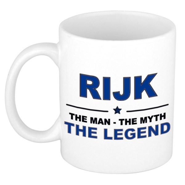 Rijk The man, The myth the legend beterschap cadeau mok/beker 300 ml