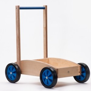 Houten Baby/duw Loopwagen Blauw