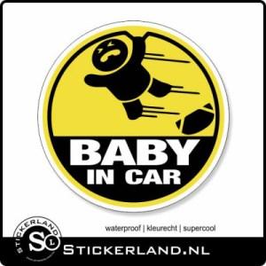 Baby in Car fullcolor sticker