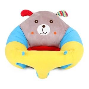 Baby zetels sofa ondersteuning stoel baby pluche ondersteuning stoel leren zitten zacht pluche speelgoed reizen autostoel (puppy pluche Bank)