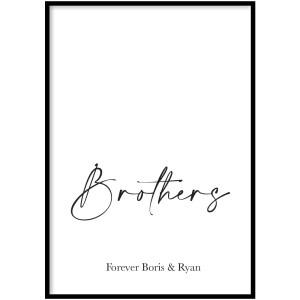 Poster - Brothers - Plexiglas, 70x100cm