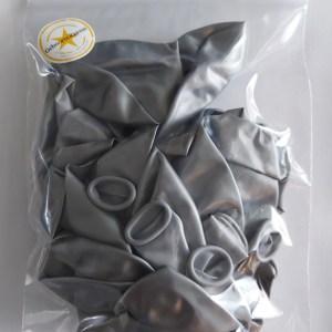 Ballonnen zilver parelmoer