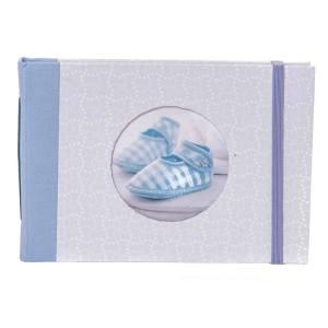 Fotoboek met elastiek als sluiting blauw