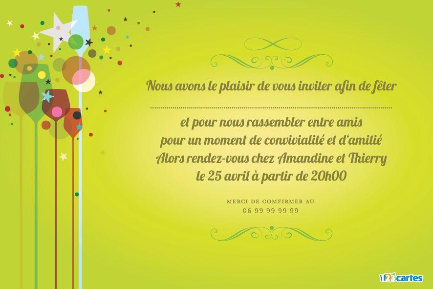 cartes invitations apero 123cartes