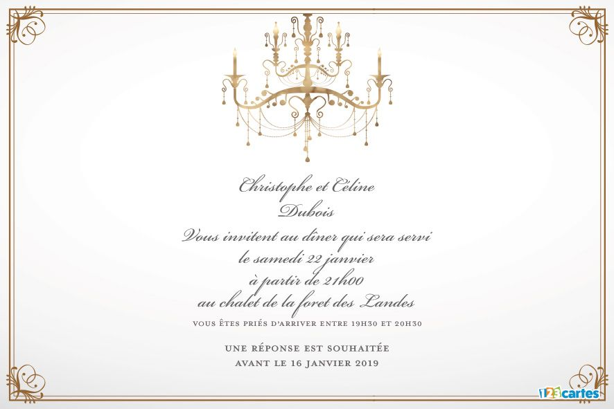 cartes invitations a diner 123cartes