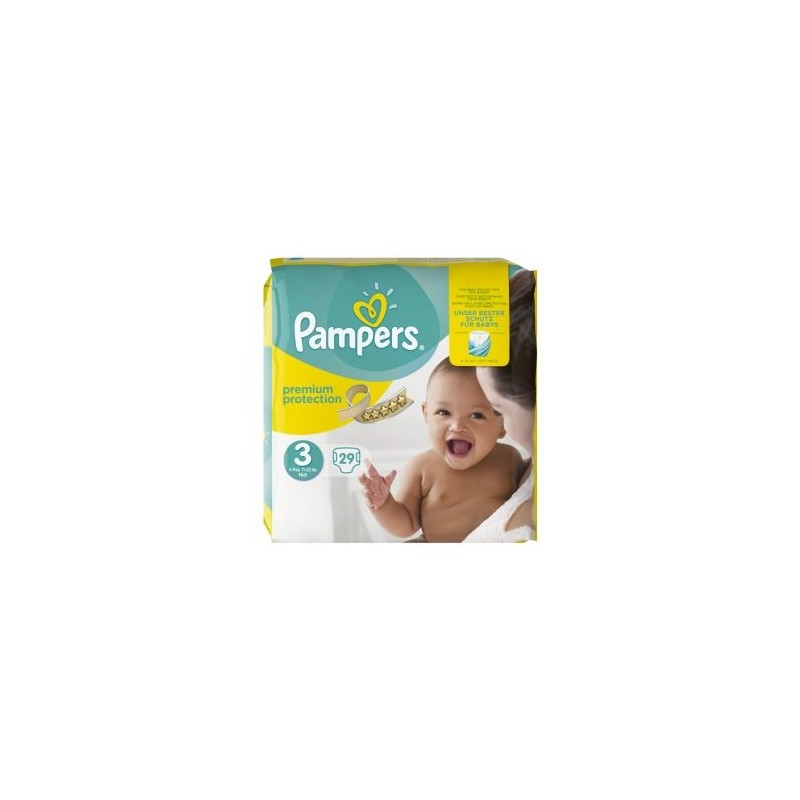 29 Couches Pampers Premium Protection Taille 3 En Solde