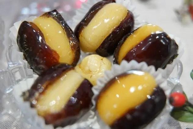 fruits déguisés caramélisés