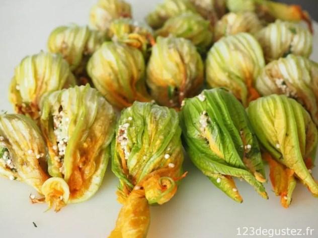 Fleurs de courgettes farcies quinoa et menthe v g tarienne - Fleurs de courgettes farcies ...