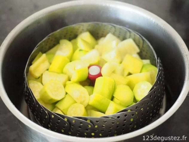 soupe légère courgettes menthe