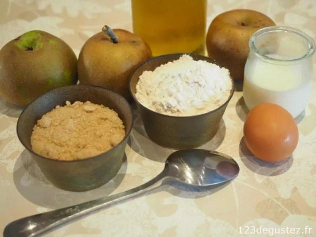 G teau aux pommes l ger et sans balance - Peser farine sans balance ...