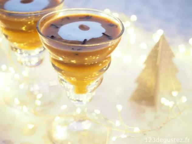 Verrine de Noël facile aux ceps et thé Pu'Er