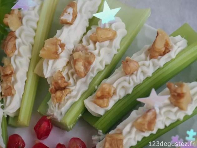 canapé celeri branche à la chantilly de gorgonzola
