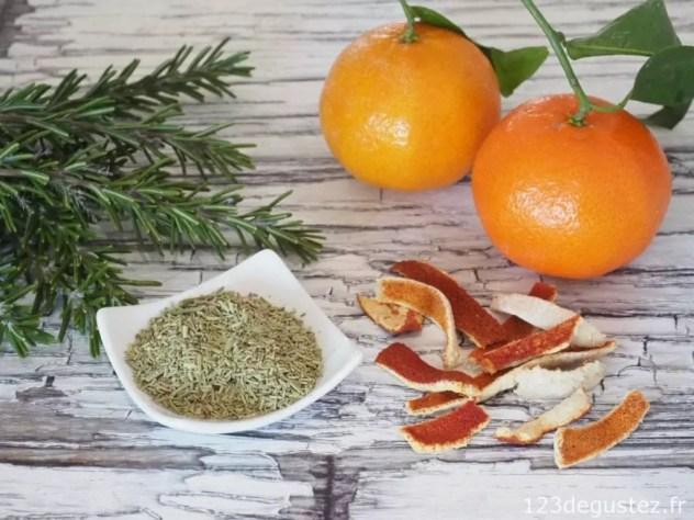 tisane romarin et mandarine