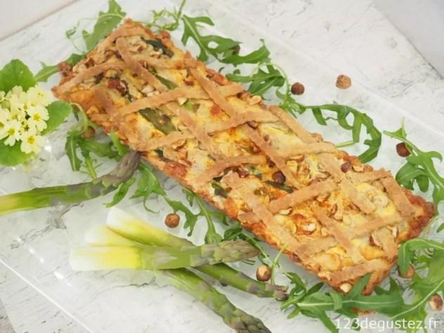 Tarte aux asperges végétarienne
