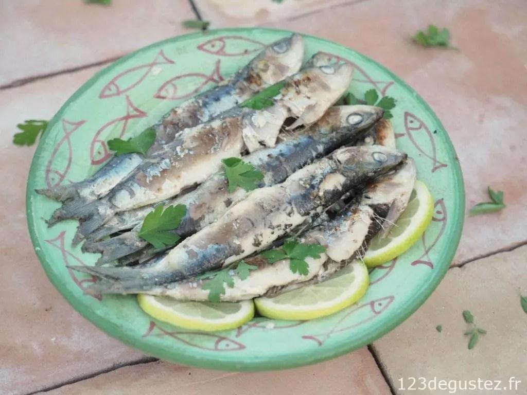 Sardines marin es grill es la plancha facile rapide et l g res 1 2 3 d gustez - Comment faire griller des sardines ...
