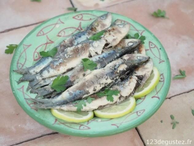 sardines marinées grillées à la plancha