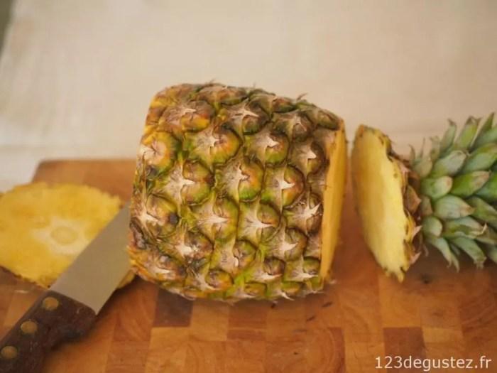 couper facilement un ananas