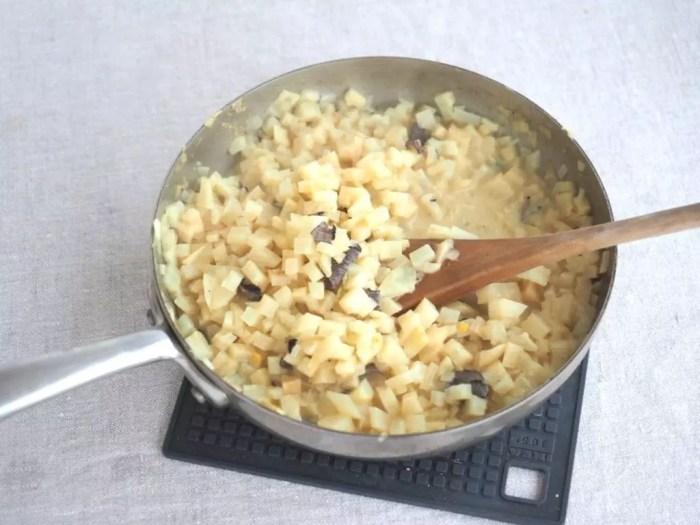 céleri rave en risotto aux truffes