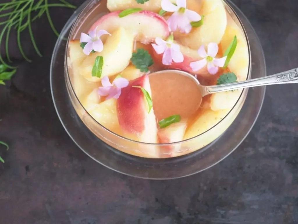 soupe de pêche au muscat