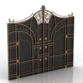 Vintage Continental Door Free 3d Max Model