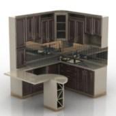 European Kitchen Cabinet Design 3d Model