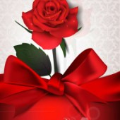 Elegant Silk Rose Vector
