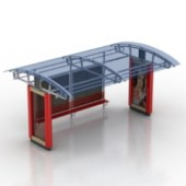 West Bus Station Free 3dmax Model