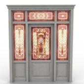 Vintage Door with Decoration