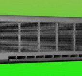 Wall Mounted Air Conditioner 3dsmax Model