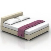 Wooden Double Bed Free 3dmax Model