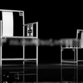 A Modern Iron Chairs