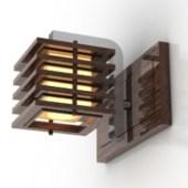 Wooden Walls Wall Lamp