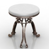 Old-fashioned Iron Round Table Free 3dmax Model