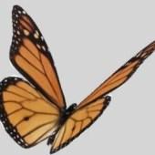 Beautiful Butterfly Free 3dmax Model