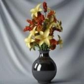 Flowers Vase Decoration Free 3dmax Model