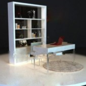 Study Room Interior Scene Free 3dmax Model