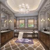 Interior Bathroom Design Free 3dmax Model