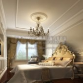 Luxury Bedroom 3dmax Model Interior Scene