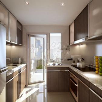 Free 3dmax Model Realistic Kitchen Room