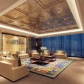 Apartment Living Room Design Free 3dmax Model