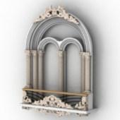 Decoration Castle Windows Free 3dmax Model