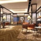 Tea Room Interior Free 3dmax Model