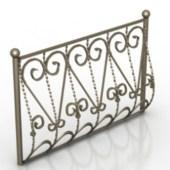 European Decoration Guardrail Free 3dmax Model